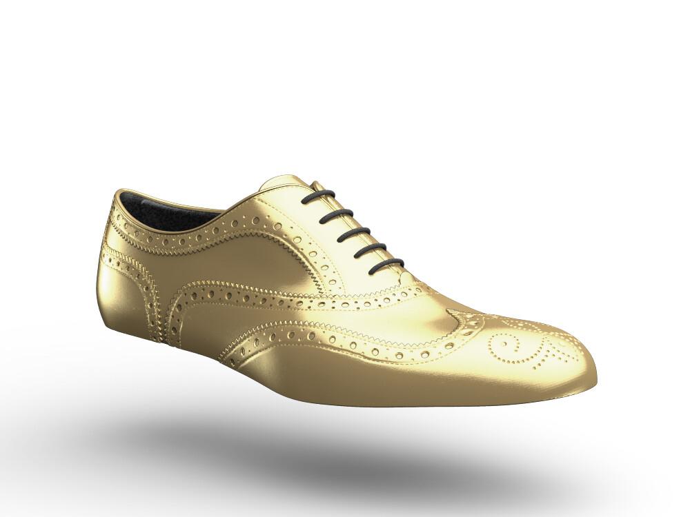 scarpe francesina donna oro
