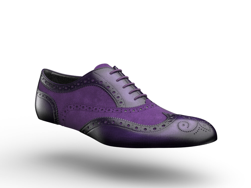 bicolored woman oxford wing brogue