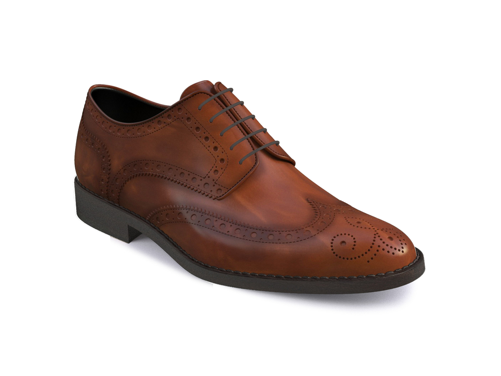 tan polished leather women derby shoes