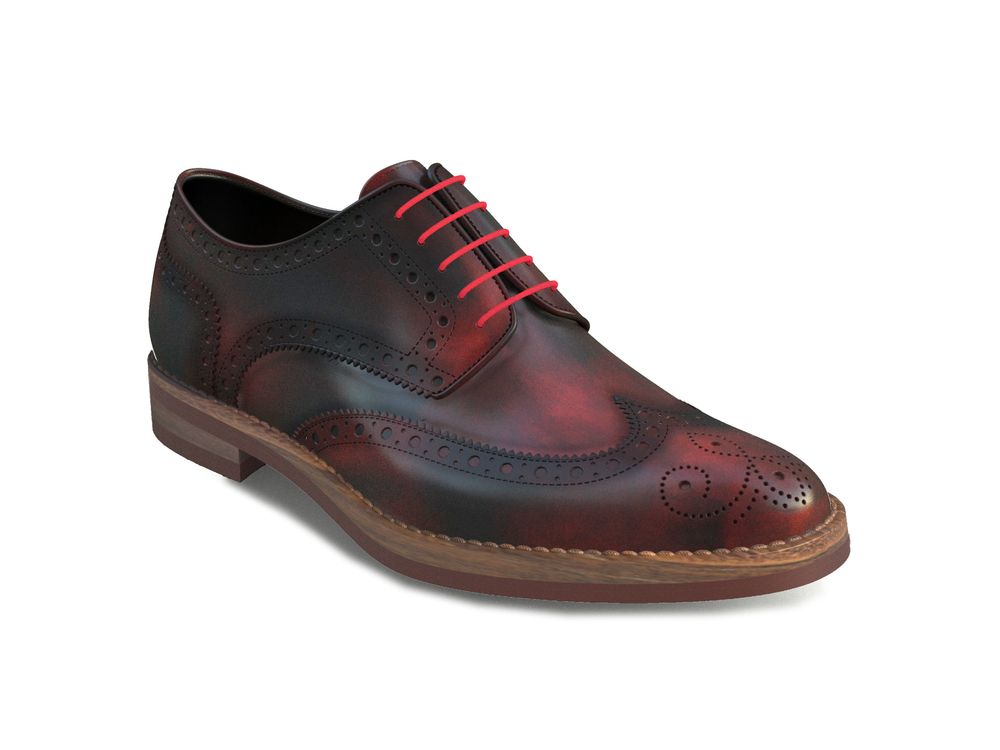 red polished woman full brogue derby