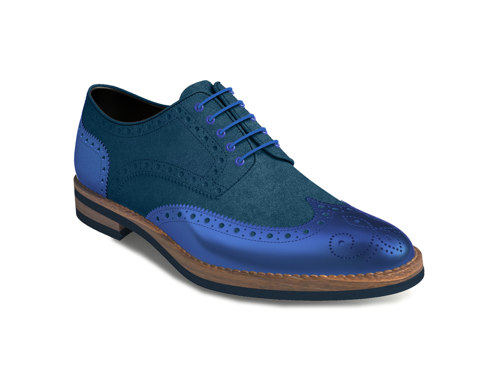 bluette suede laminated leather women derby shoes