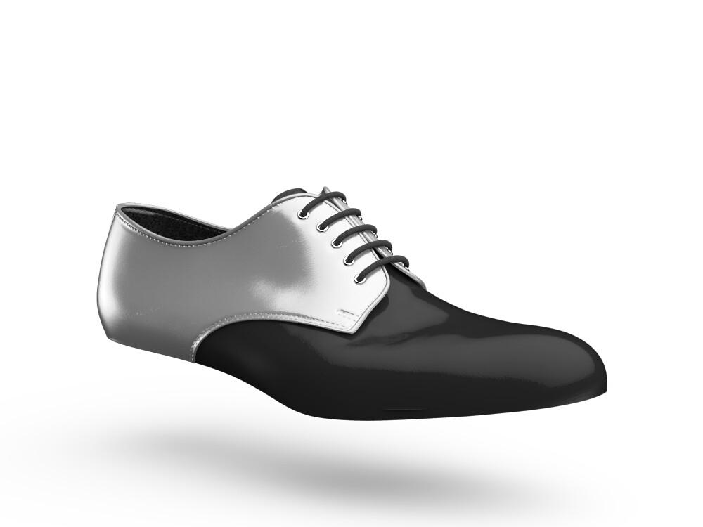 black silver woman derby shoes