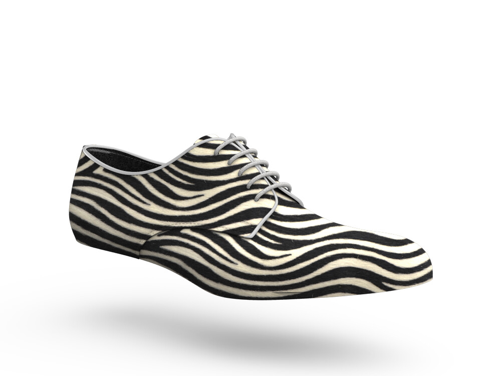 zebra hairy leather woman derby