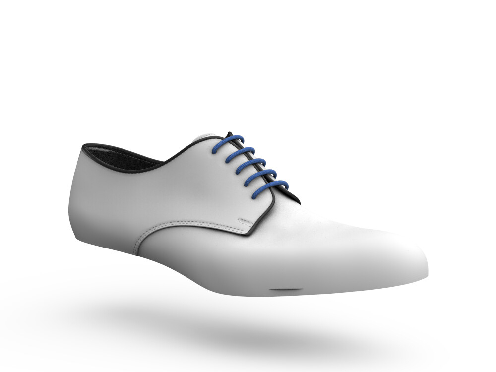 blue calf leahter woman derby