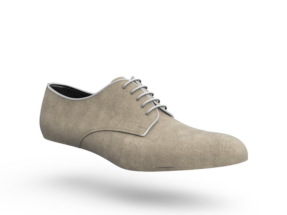 sand suede woman derby