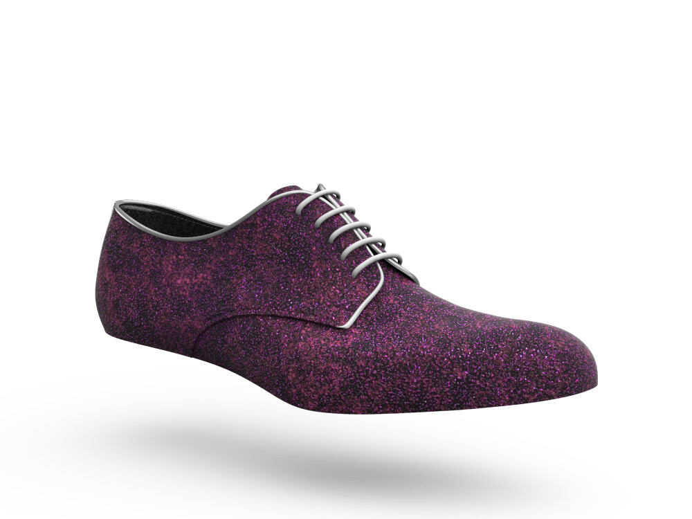 fucsia stardust leather woman derby