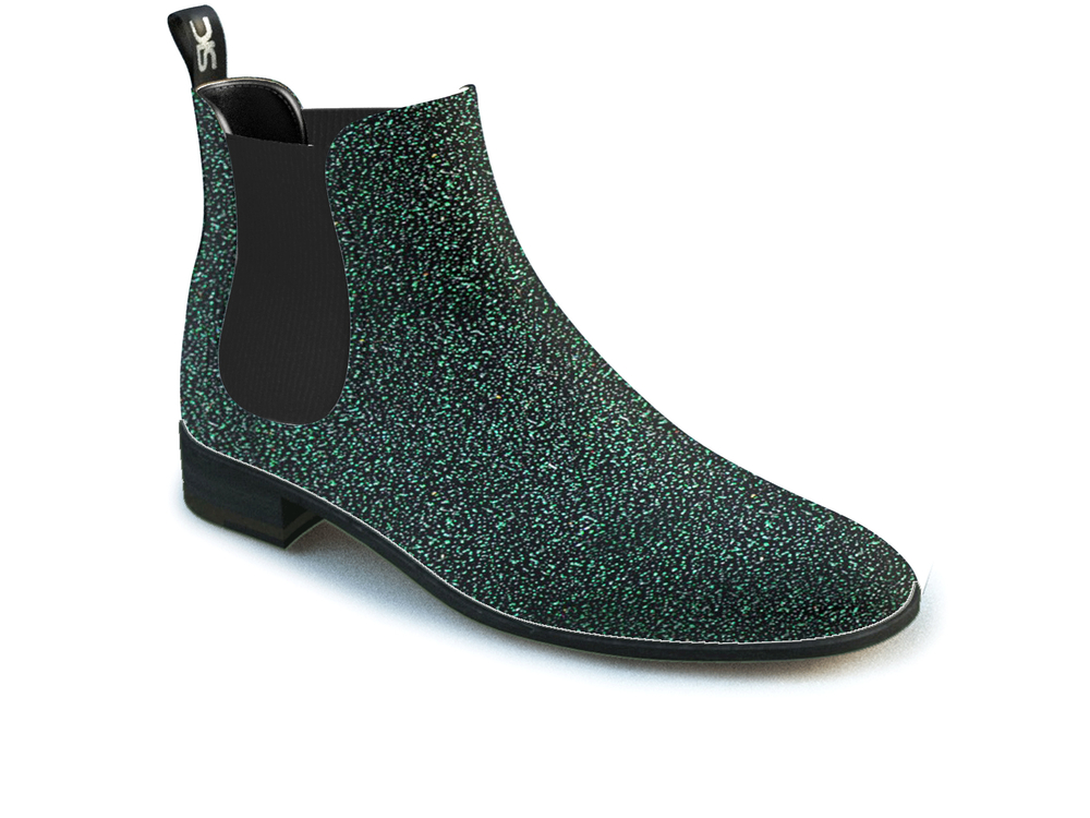 green stardust woman chelsea boots