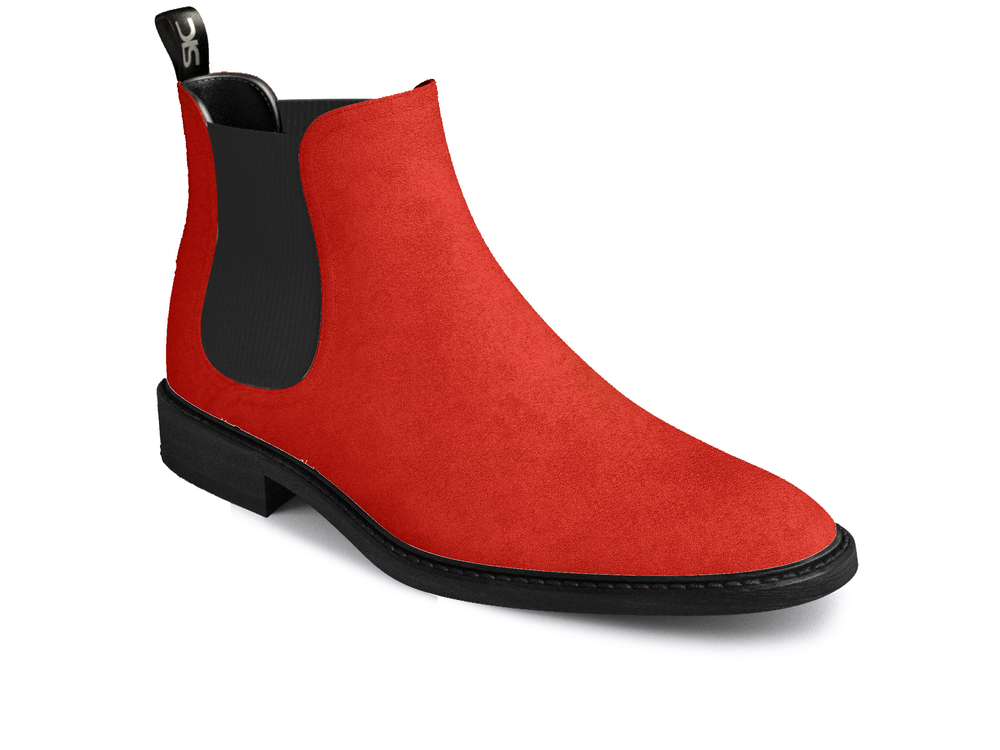 d977aa22633 Red suede woman chelsea boots | DIS