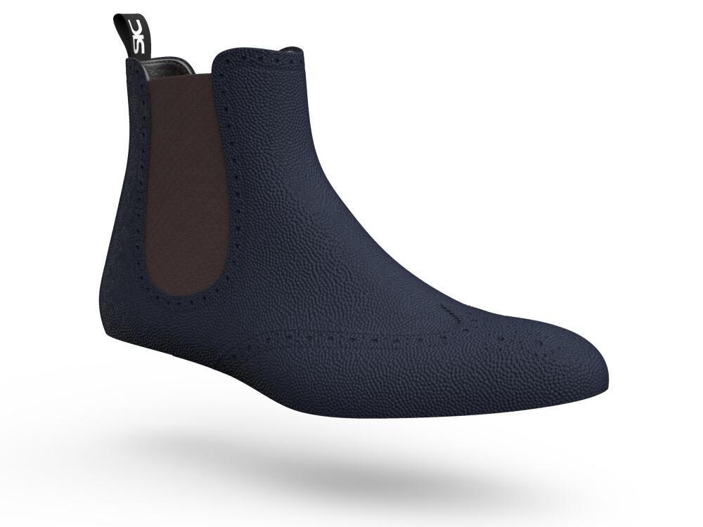 blue chelsea boots woman