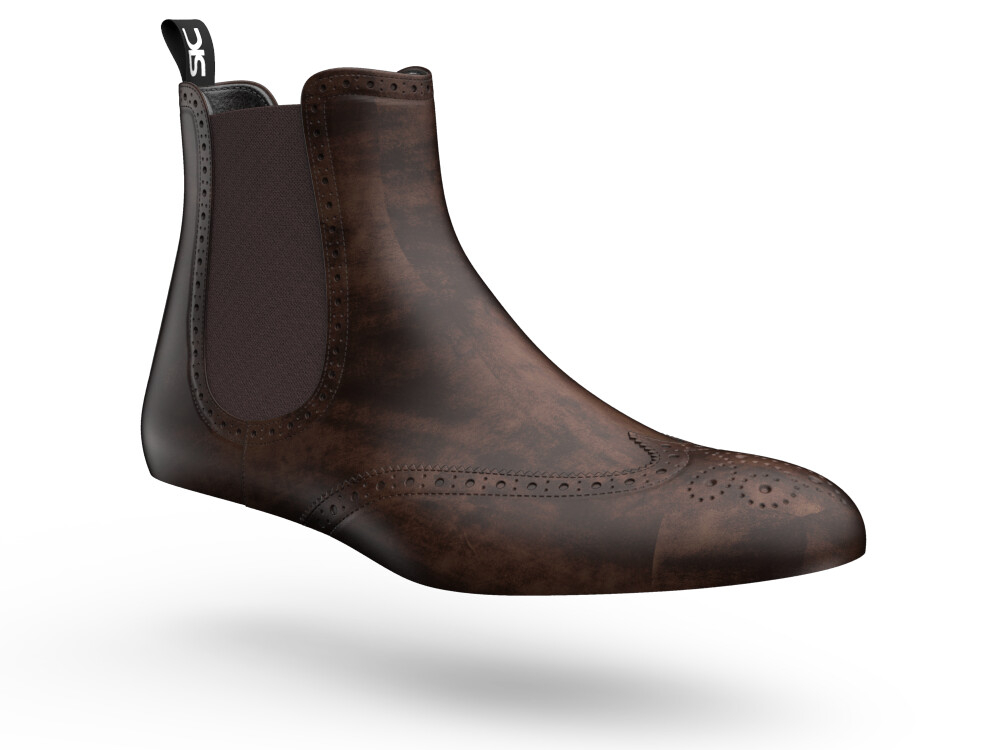 brown decò woman chelsea boot