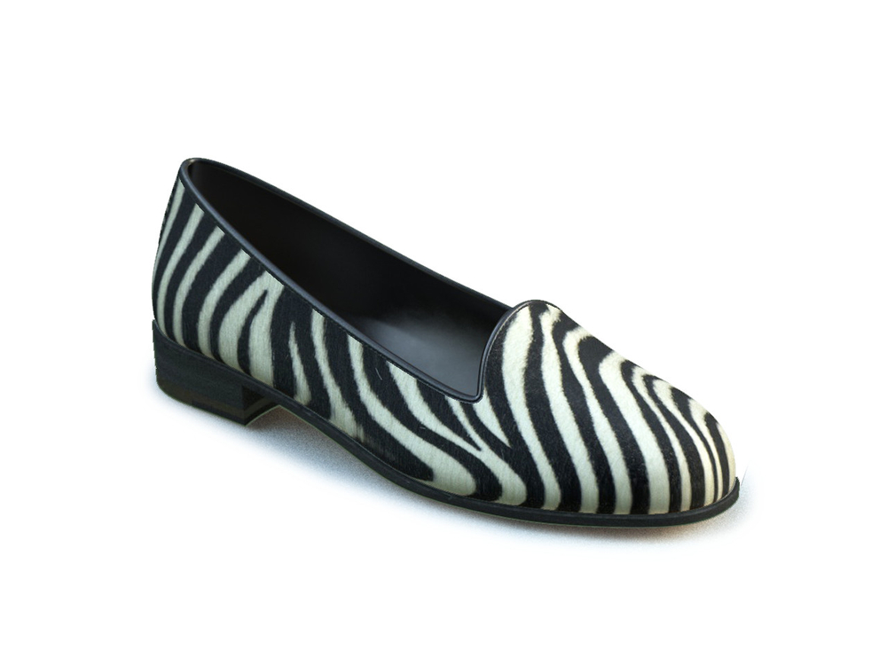 mocassino donna cavallino zebrato
