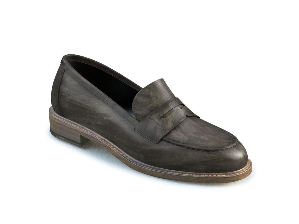 scarpe college donna pelle deco grigia