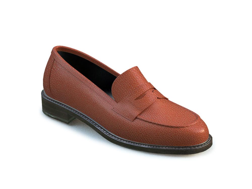 tan pebble grain leather  women collage shoes