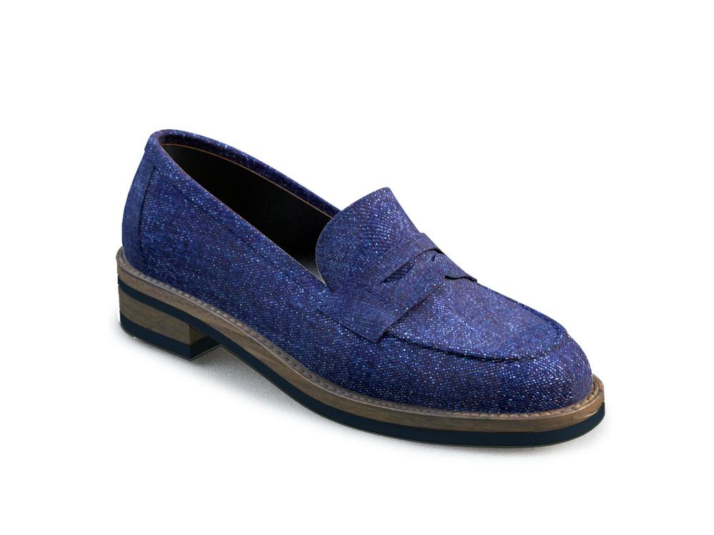 blue denim women college shoes