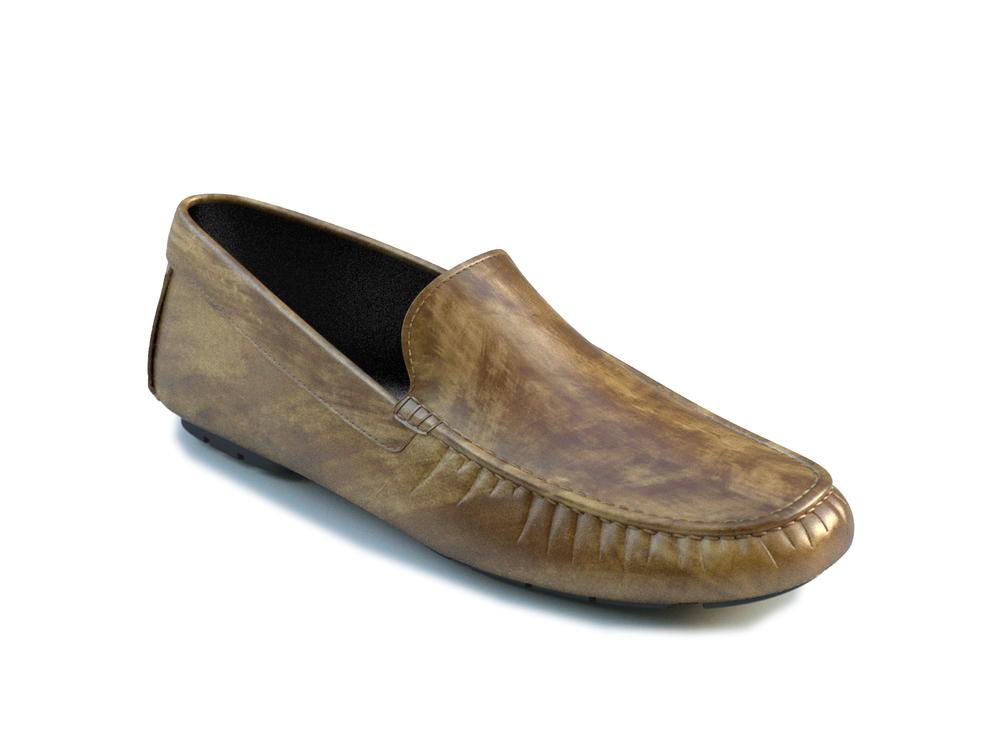 scarpe driver pelle decolorata verde oliva