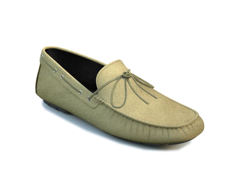 scarpe driver lacci pelle scamosciata sabbia