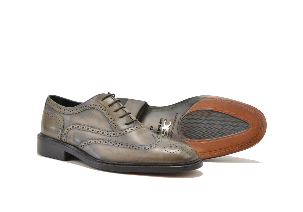olive decò men oxford wing brogue