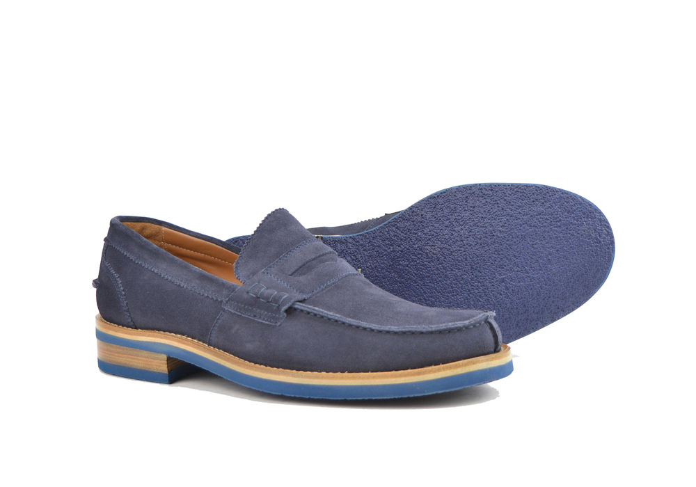 violet suede  leather men college