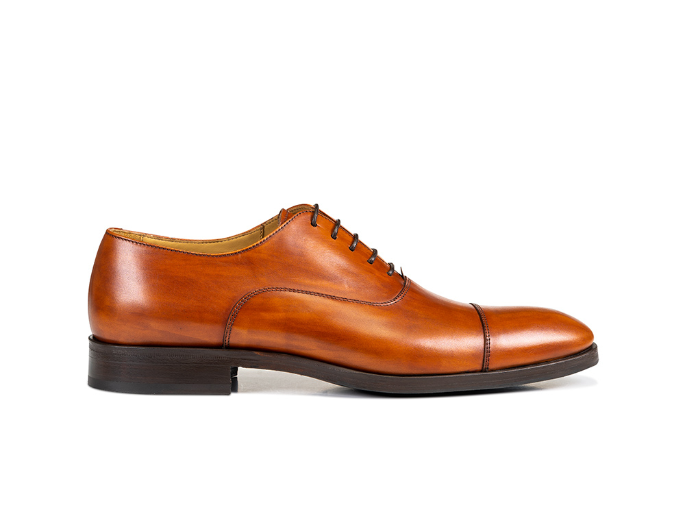 tan decò leather men oxford toe cap