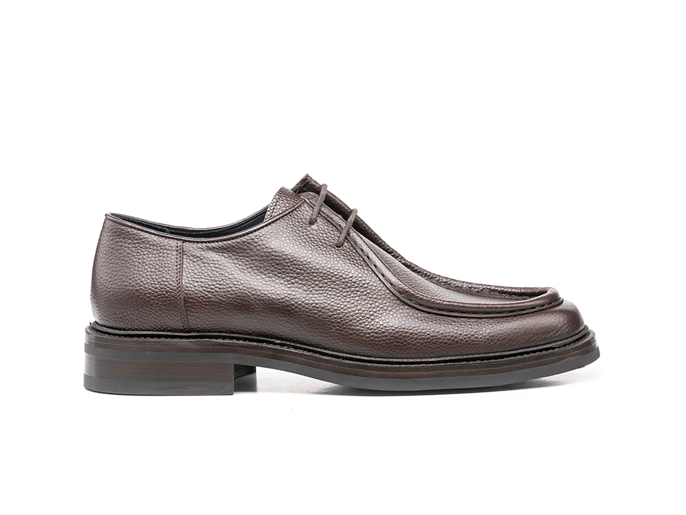 grain leather coffee desert boot