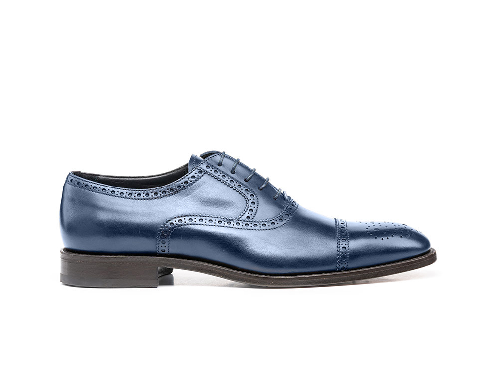 navy deco leather men oxford wing brogue