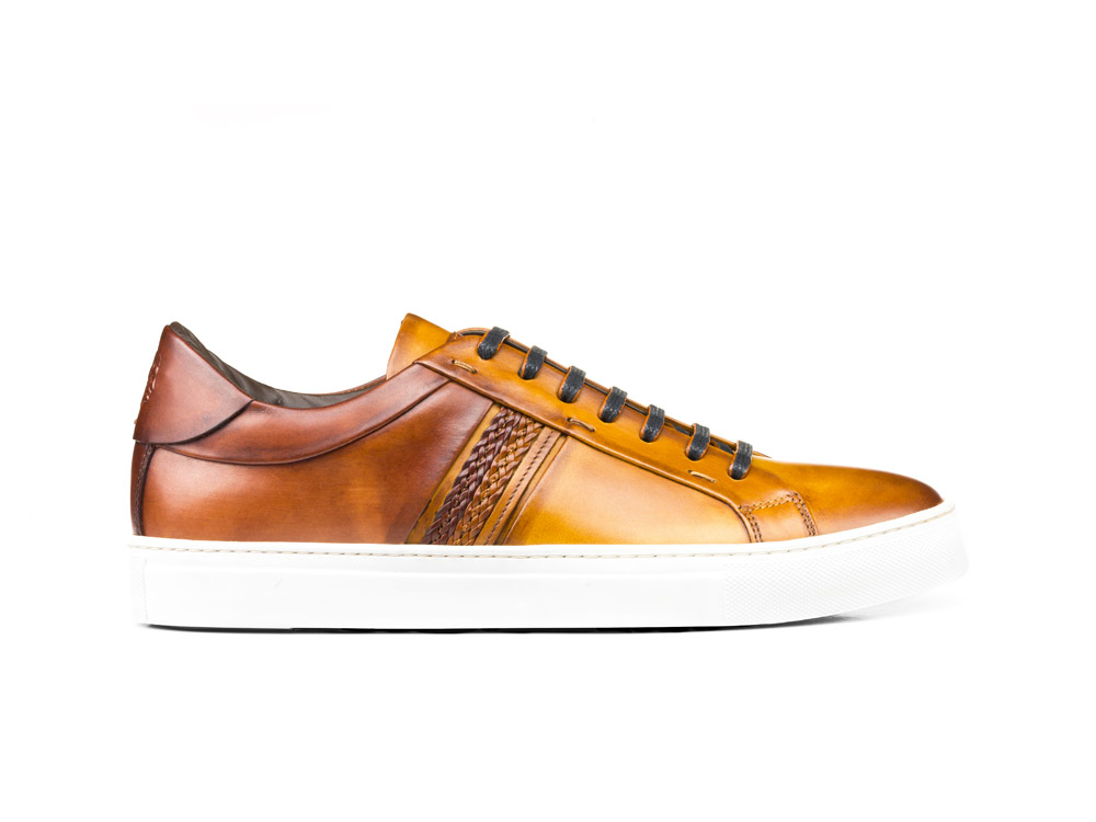 sneakers bassa calf crust marrone