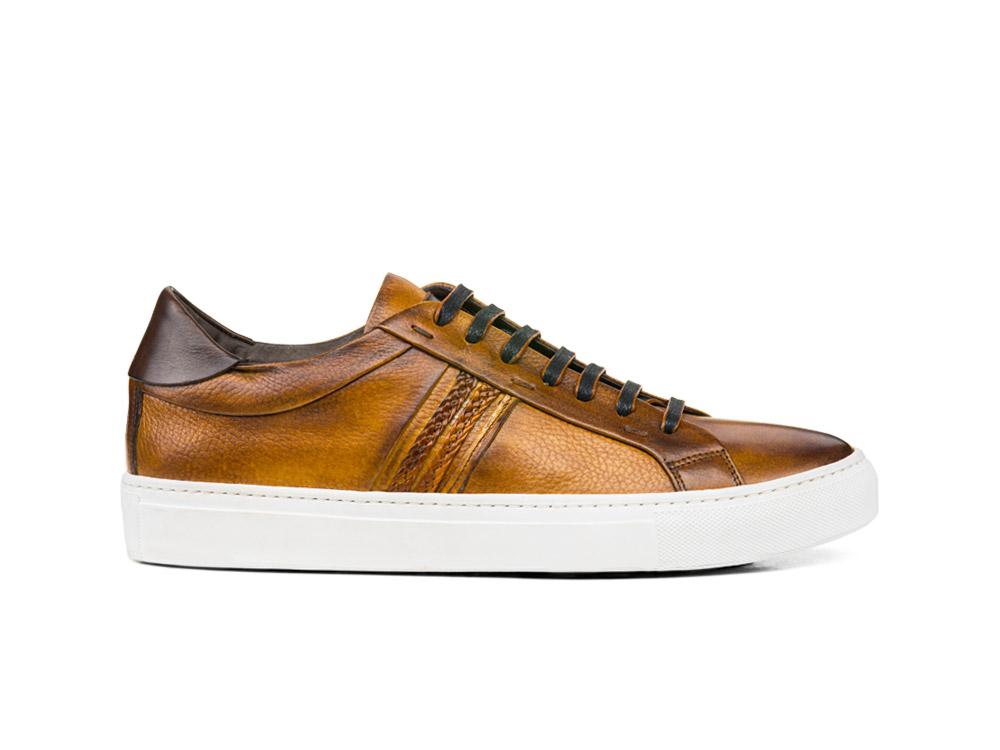 sneakers bassa steam crust cuoio