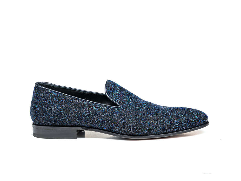 blue stardust leather men slip on