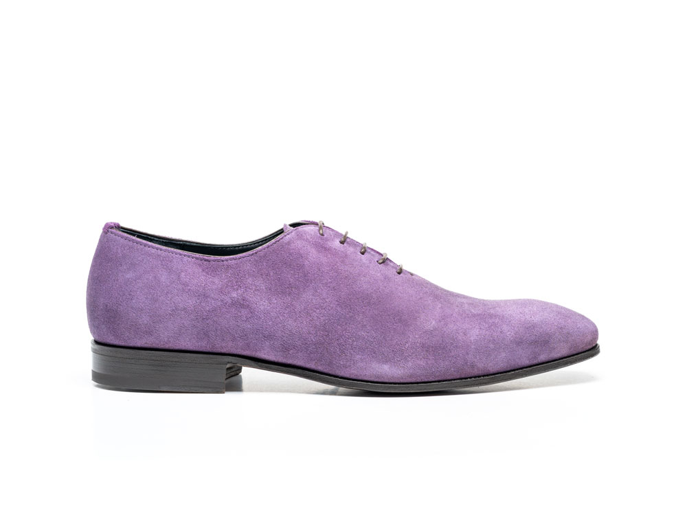 violet kudu leather men oxford plain vamp