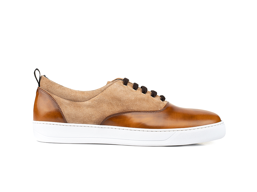 sneakers oxford polished suede brown