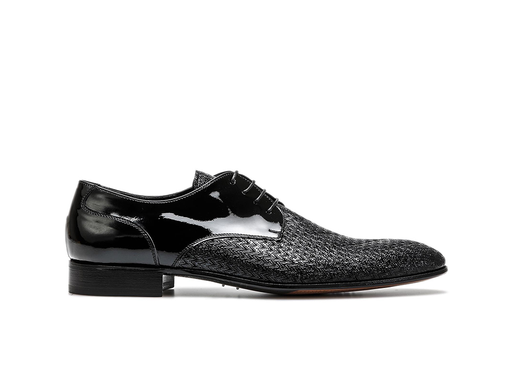 derby plain men patent black