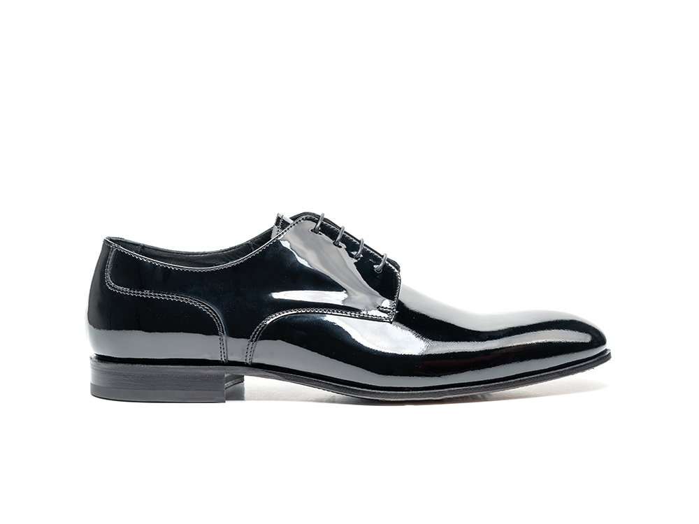 derby plain men wedding patent black