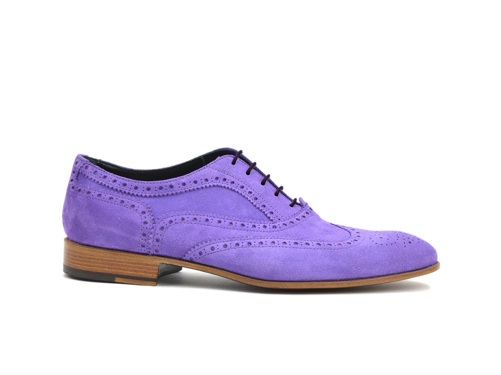 man violet suede oxford