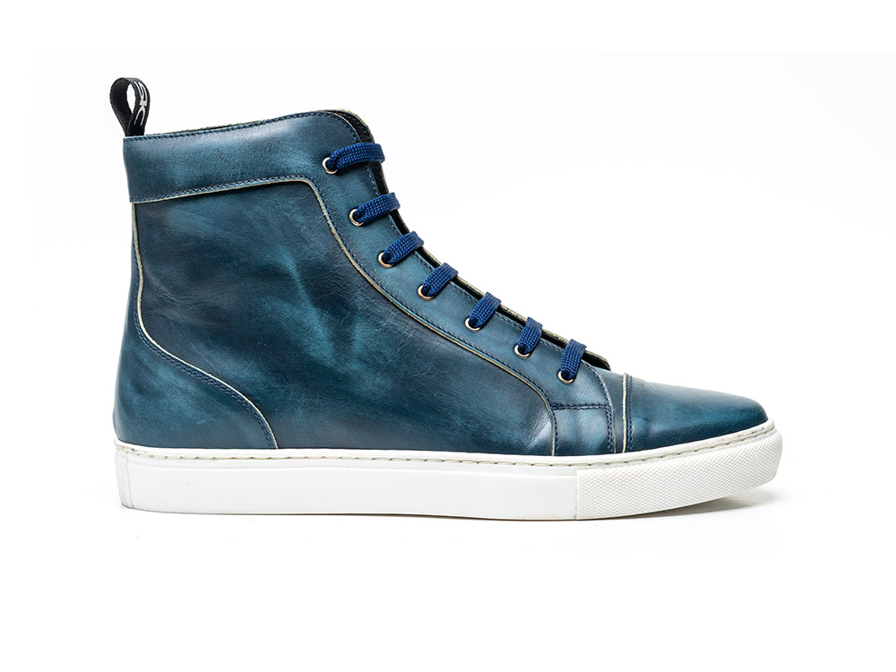 high top navy deco sneaker