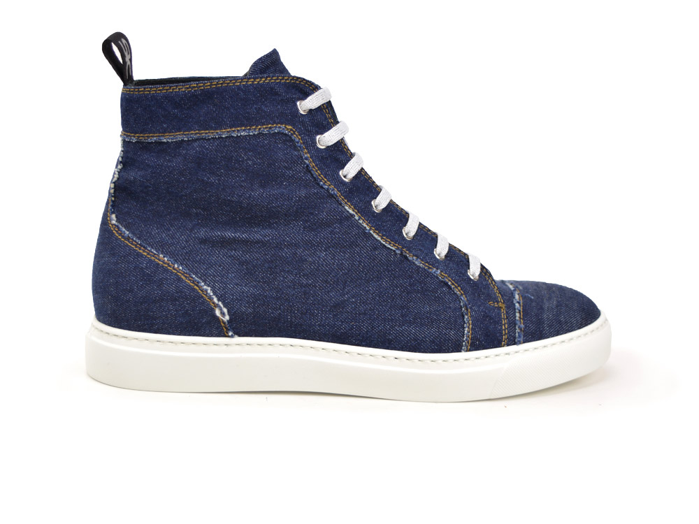 sneakers alta denim