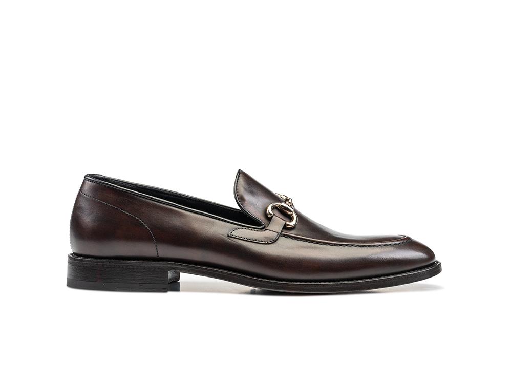 coffee decò leather men horsebit loafer