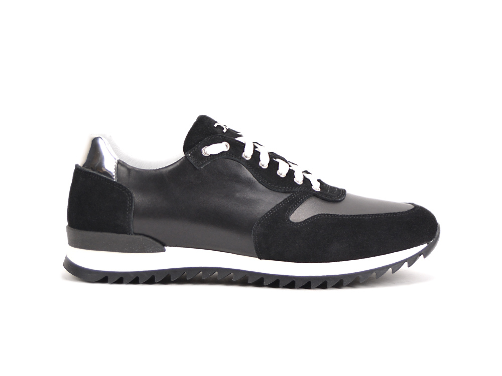 low top running suede calf black