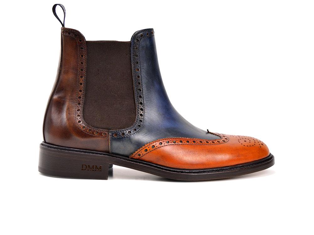 multicolour deco leather men chelsea boot