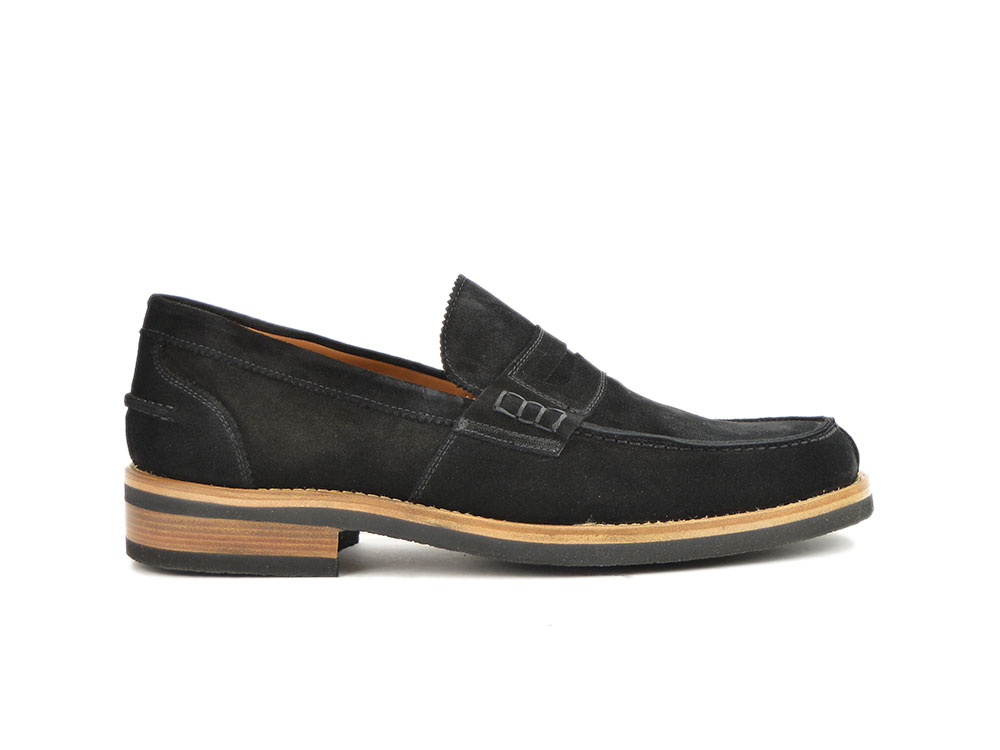 black suede leather men college