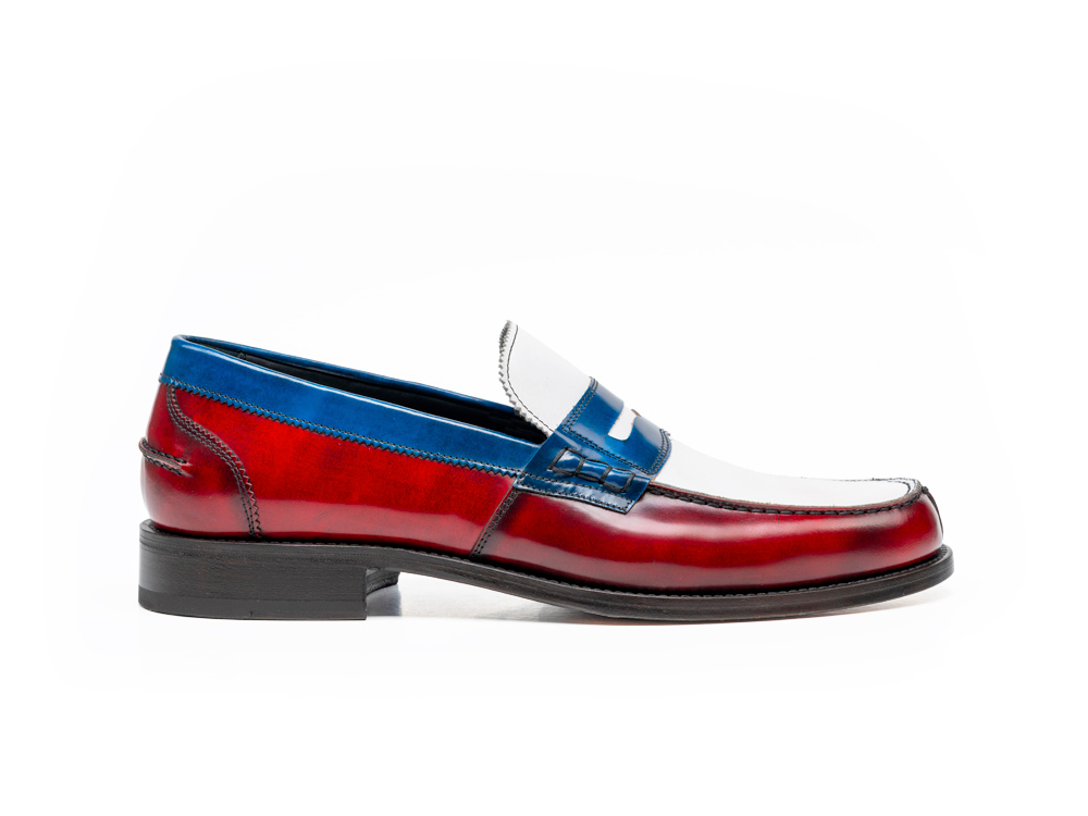 multicolor polished calf leather college