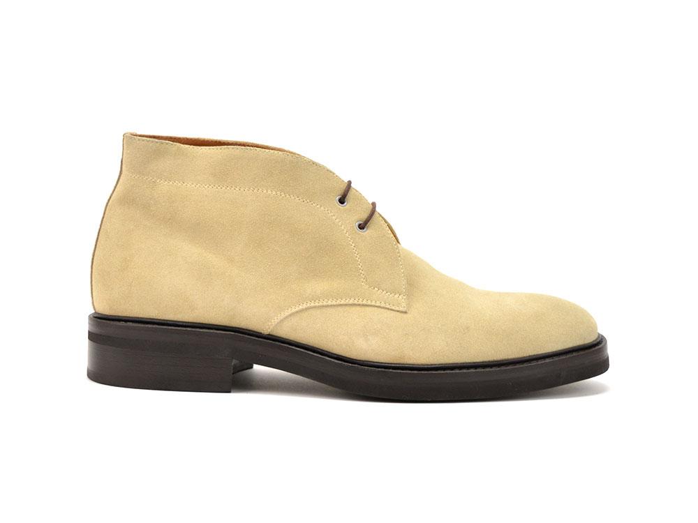 sand suede leather men desert boot