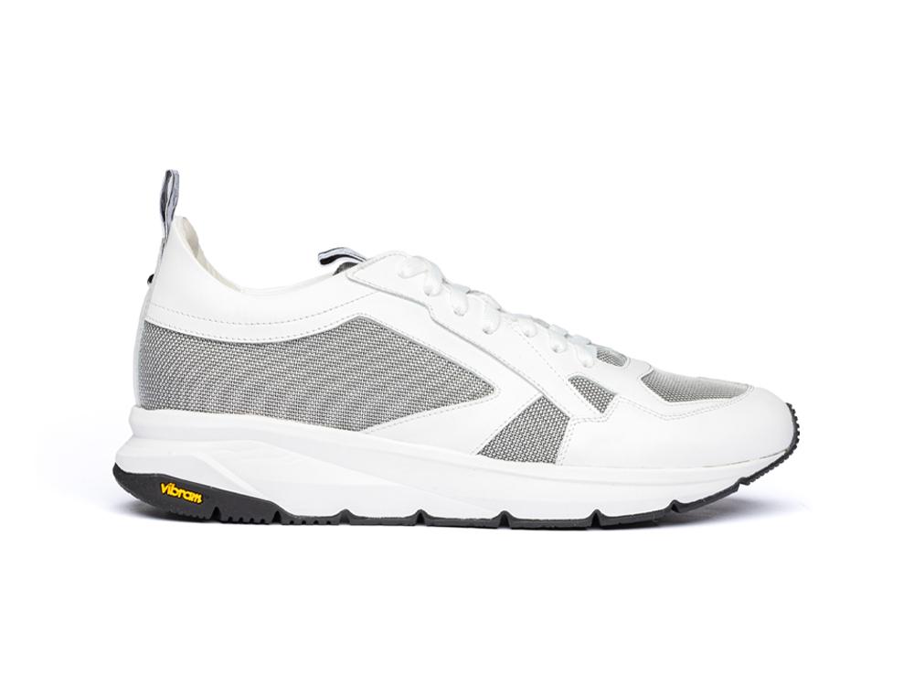 running calf white and vibram sole