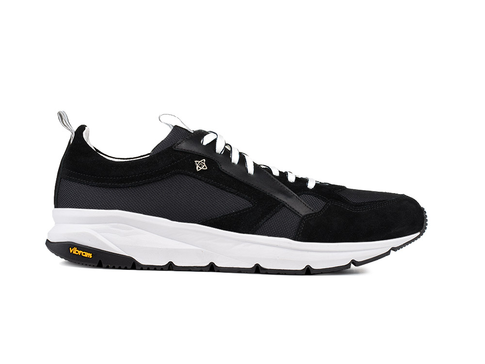 low top running suede black vibram sole