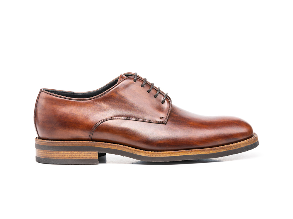 dark brown deco man derby