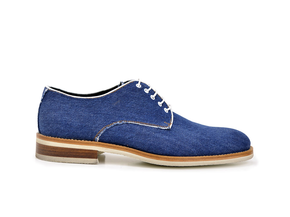 light denim fabric men derby plain