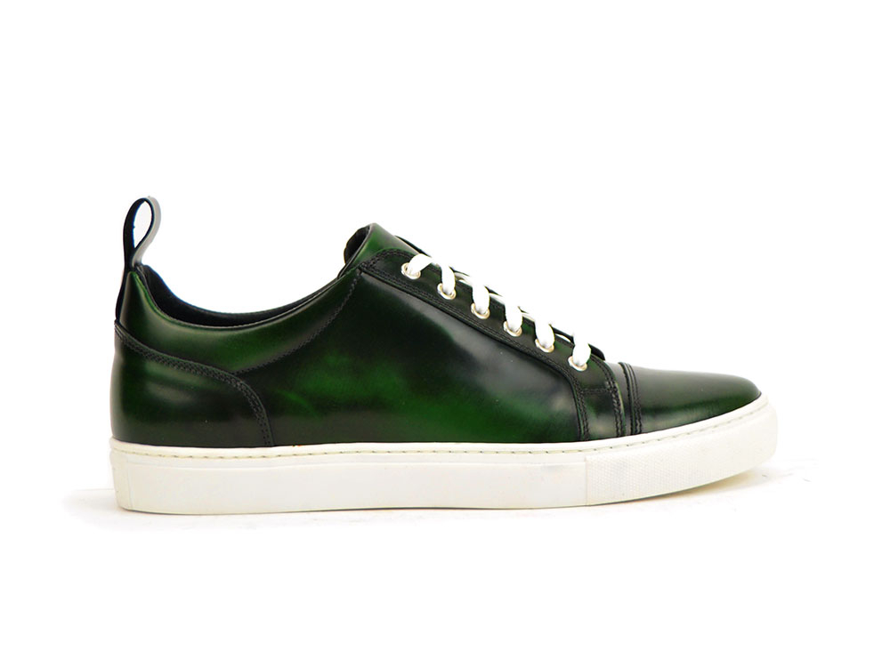 polished green sneaker