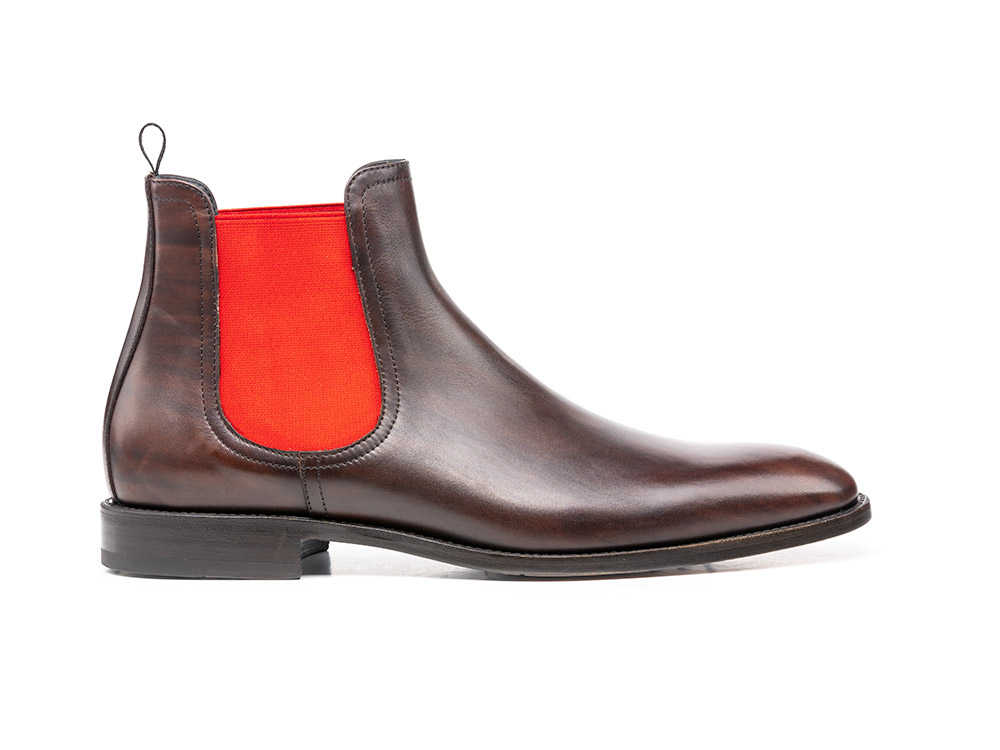 coffee decò leather men chelsea boot