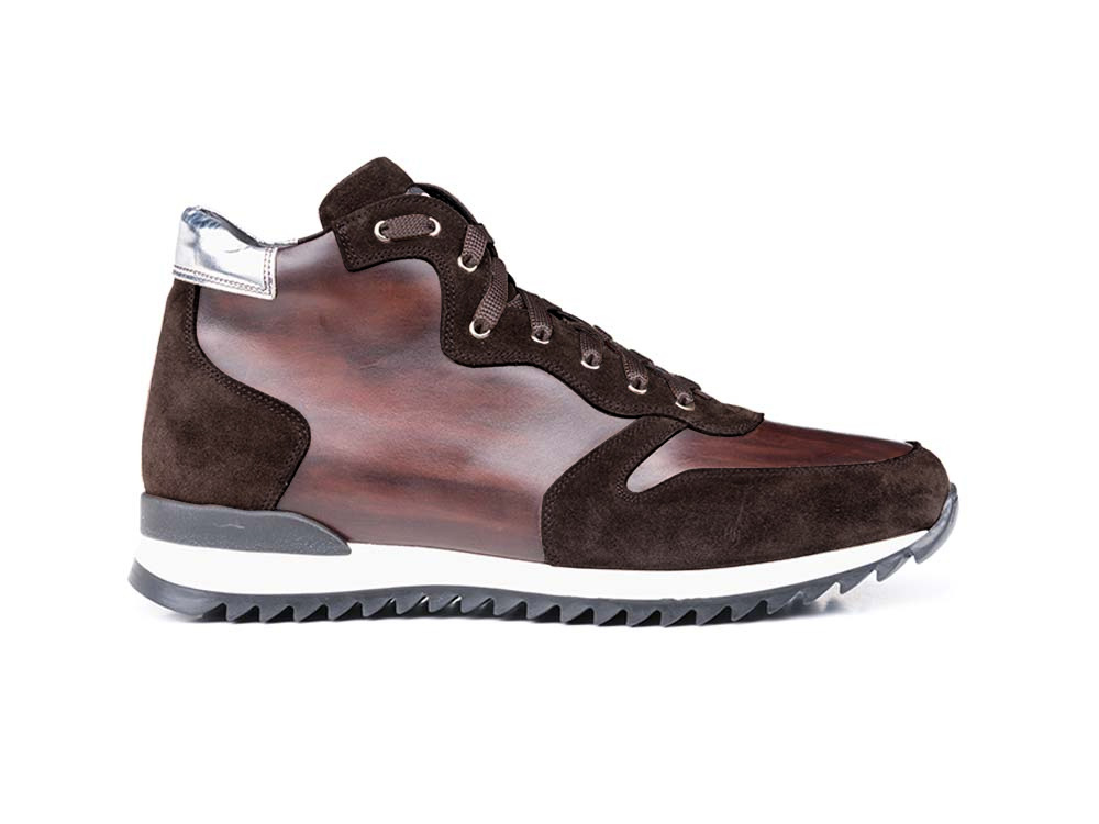 high top running deco leather brown