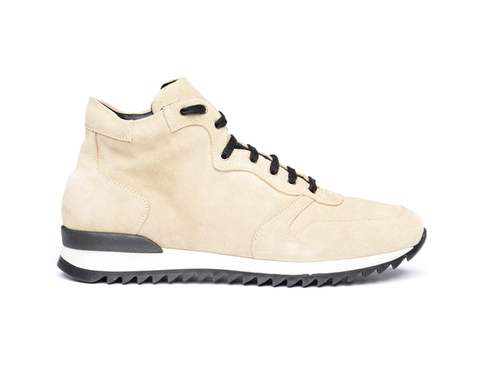 high top running suede sand leather