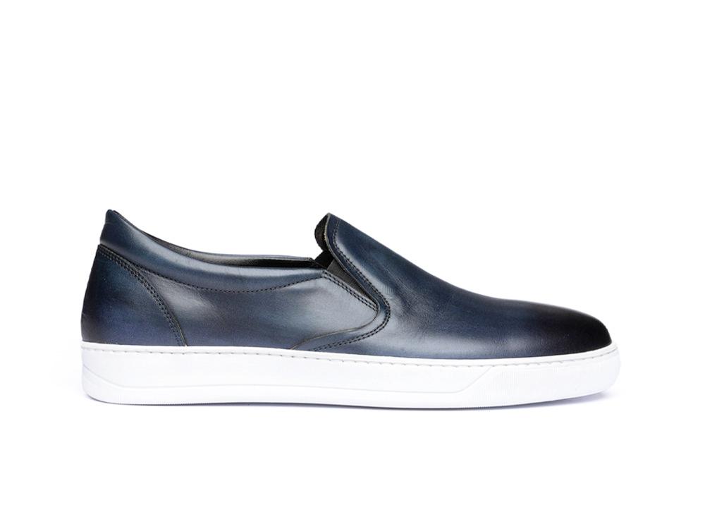 navy deco slip on sneakers